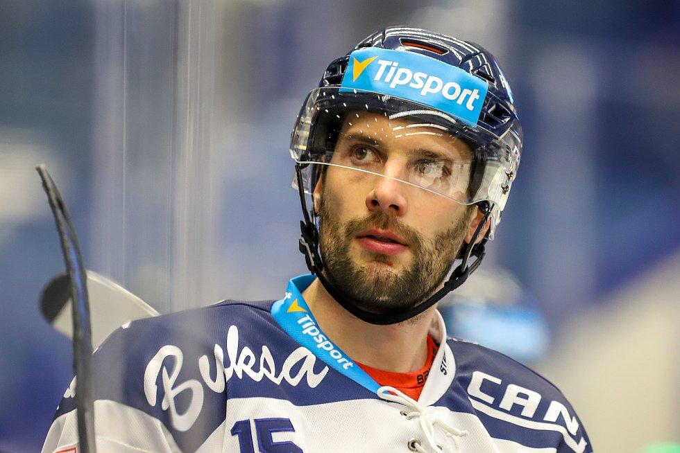 Utkání 39. kola hokejové extraligy: HC Vítkovice Ridera - Mountfield Hradec Králové, 24. ledna 2020 v Ostravě. Na snímku Blaž Gregorc.