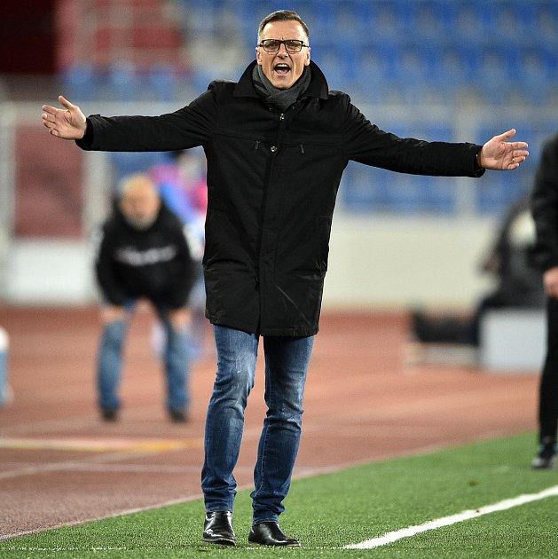 Utkání 22.kola první fotbalové ligy: Baník Ostrava - FK Jablonec, 24.února 2020vOstravě. Trenér Baníku Luboš Kozel.