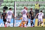 Utkání 2. kola první fotbalové ligy: MFK Karviná - Baník Ostrava, 22. července 2019 v Karviné. Na snímku (střed) brankář Baníku Viktor Budinský.