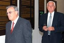 Bývalí manažeři Ostroje Opava Stanislav Budirský a Josef Mohyla
