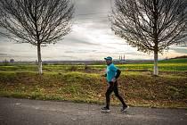 Štafetový běh v Ostravě na počest toho, že získala titul Evropské město sportu 2014.