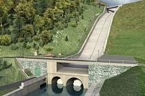 Bezpečnostní přeliv vodního díla Šance bude mít po rekonstrukci ve srovnání se současným stavem dvojnásobnou kapacitu.