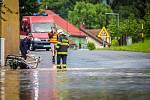 Zásah hasičů ve Studénce.