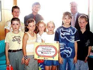 Vítězné družstvo žáků ze Základní školy Porubská 832