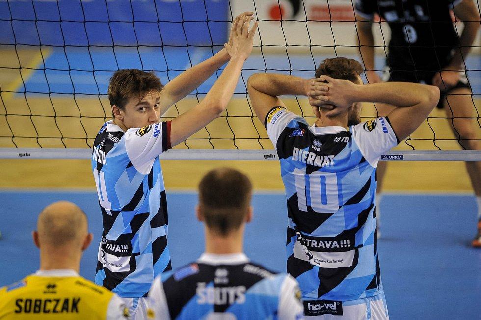 Turnaj volejbalistů Ostrava Cup, zápas rakouského Waldviertelu (trenér Zdeněk Šmejkal) s VK Ostrava (trenér Jan Václavík).