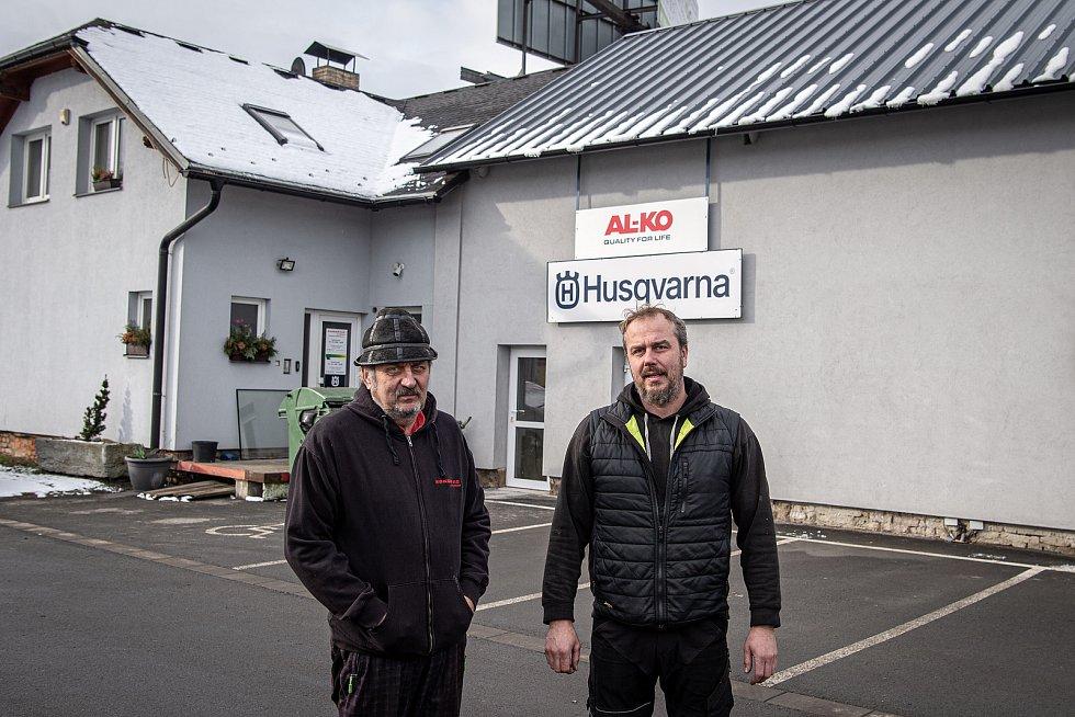 Majitele autodopravy Kokeš - Jaromír (vlevo) a Otmar Kokešovi.