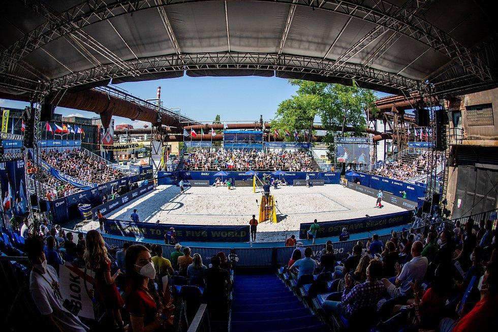 J&T Banka Ostrava Beach Open - semifinále muži, 6. června 2021 v Ostravě.