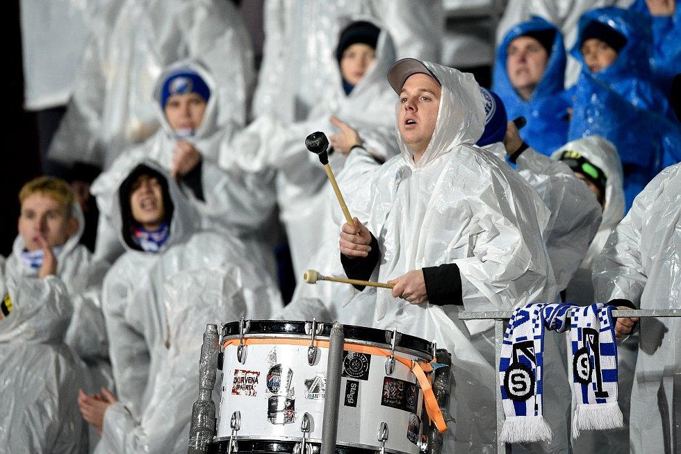 Utkání 20. kola první fotbalové ligy: Baník Ostrava - Sparta Praha, 14. prosince 2019 v Ostravě. Na snímku fanoušci Baníku.