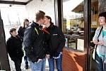 Svatého Valentýna si již v neděli připomenuli někteří návštěvníci ostravské zoo.
