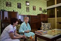 Retro pokoj ve Vítkovické nemocnici, 26. února 2019 v Ostravě. Na snímku pacientka Marie Honová.