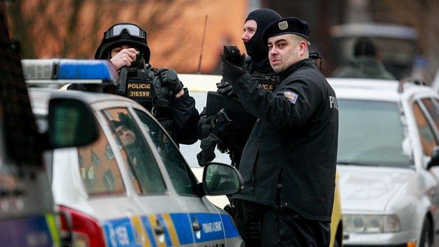 Policejní zásah v Ostravě-Výškovicích.