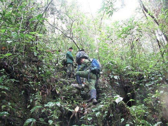 Průzkumný tým CeREC v lese Quan Ba.