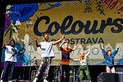 Hudební festival Colours of Ostrava 2019 v Dolní oblasti Vítkovice, 17. července 2019 v Ostravě. Na snímku Yemi A.D.