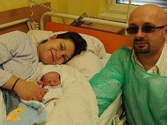 První Ostravan letošního roku Tadeáš Gikov se narodil ve Vítkovické nemocnici minutu po osmé hodině na Nový rok.