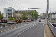 První etapa rekonstrukce Českobratrské ulice od zastávky Most Pionýrů po kruhový objezd na Hladnově, která potrvá do prosince, je v plném proudu.