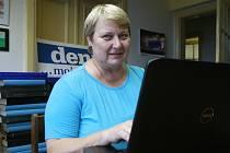 Liana Janáčková při on-line rozhovoru v redakci Moravskoslezského deníku.