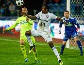 FC Baník Ostrava – MFK Karviná, zleva Marek Janečka, Dame Diop, Martin Berkovec