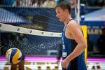 Turnaj Světového okruhu v plážovém volejbalu - semifinále, 24. června 2018 v Ostravě. Na snímku David Schweiner.