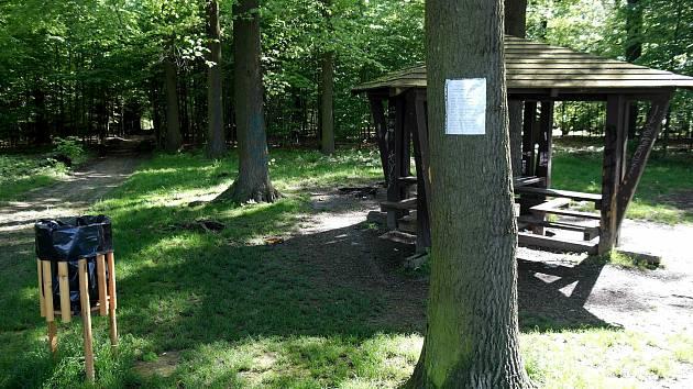 Anonymní milovník přírody v lese zvaném Osošník mezi ostravskými obvody Porubou a Plesnou upozorňuje pejskaře, aby byli ohleduplnější.