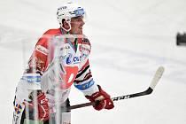 Utkání 24. kola hokejové extraligy: HC Vítkovice Ridera - HC Dynamo Pardubice, 4. prosince 2020 v Ostravě. Jan Mandát z Pardubic