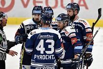 Utkání 33. kola hokejové extraligy: HC Vítkovice Ridera - BK Mladá Boleslav, 8. ledna 2021 v Ostravě. (vpravo) Jan Shleiss z Vítkovic.