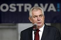 Prezident Miloš Zeman v Ostravě,