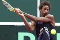 Z přípravy na utkání Davis Cupu v Ostravě mezi Českem a Francií. Gael Monfils