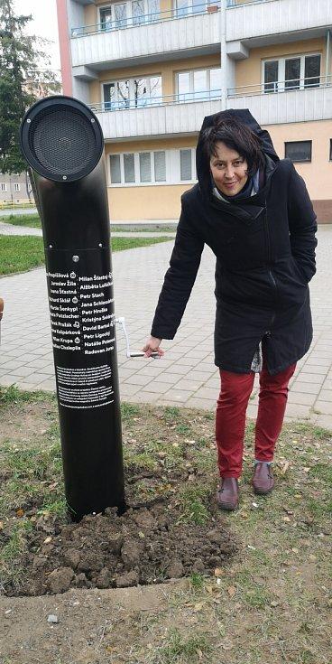 Poeziomat na kličku, Ostrava-Poruba, listopad 2020.