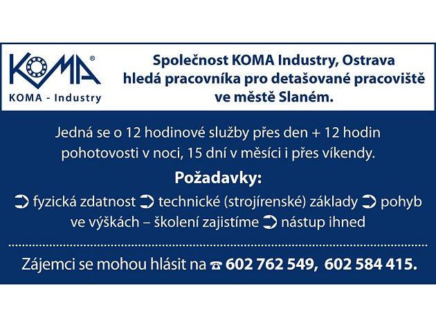 KOMA-Industry, Ostrava hledá