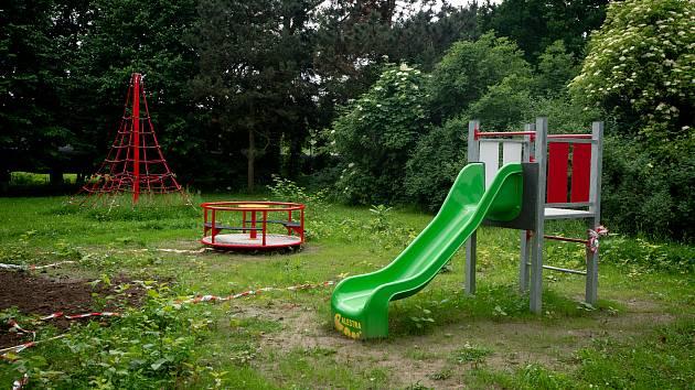 Dětské hřiště v ostravské Markově ulici.