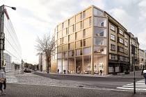 Vizualizace nové budovy, která vznikne v centru města.