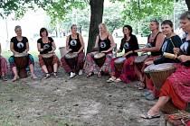 Ženská bubnovací skupina Luna z Ostravy.