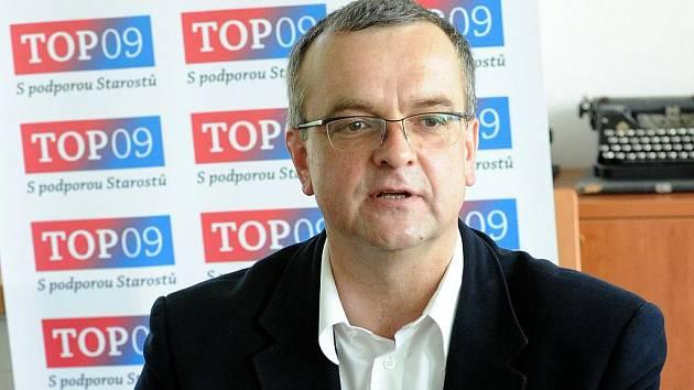 Miroslav Kalousek (TOP 09) ve čtvrtek navštívil Ostravu.