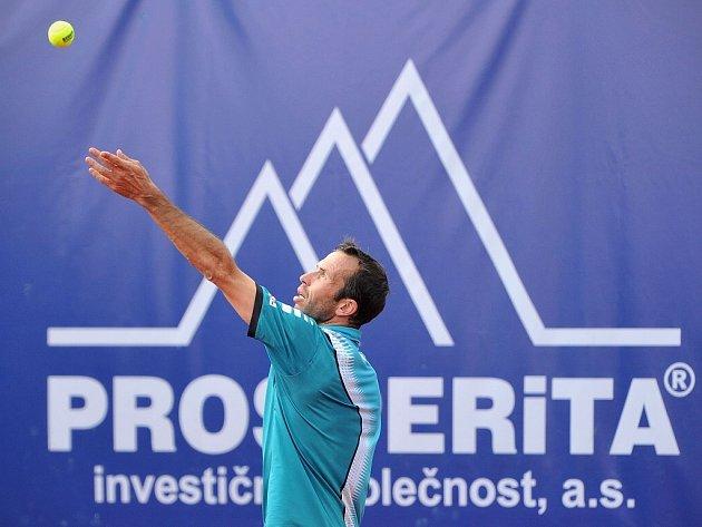 Tenista Radek Štěpánek jako největší hvězda ostravského challengeru Prosperita Open.