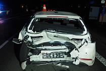 Stalo se ve středu 24. února krátce před 21. hodinou. V Dětmarovicích na silnici I. třídy havarovala dvě osobní vozidla.