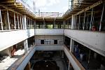 Na Černé louce pokračuje stavba kampusu Ostravské university, takto to vypadalo koncem srpna 2021.