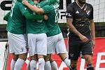 FORTUNA:LIGA - Skupina o titul, 5. kolo - FK Jablonec - FC Baník Ostrava, 8. července 2020 v Jablonci. Milan Lalkovič