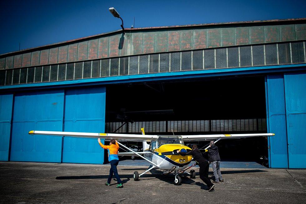 Slezský aeroklub Zábřeh u Dolního Benešova se také registroval do projektu Piloti lidem.