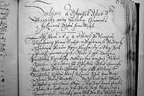 Z více než dvou stovek zápisů v památné knize jsou všechny až na tři psány česky. Jména písařů nejsou většinou známa.