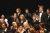 Symfonický orchestr Janáčkovy konzervatoře při jednom ze svých vystoupení