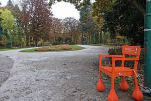 Nová Srdeční procházková trasa v Komenského sadech.