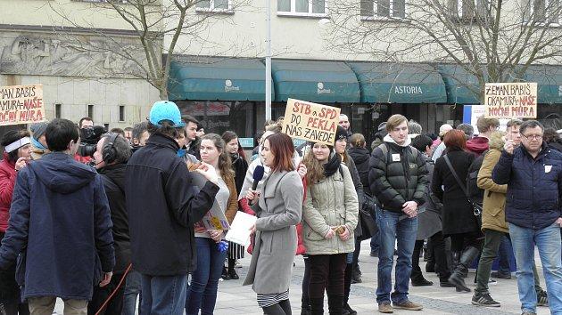 Studentská demonstrace v Ostravě