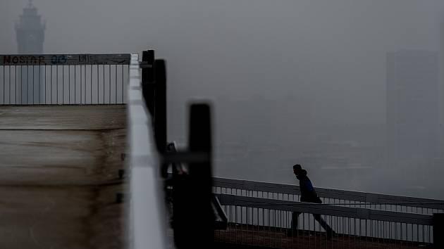 Smogová situace 21. ledna 2019 v Ostravě.