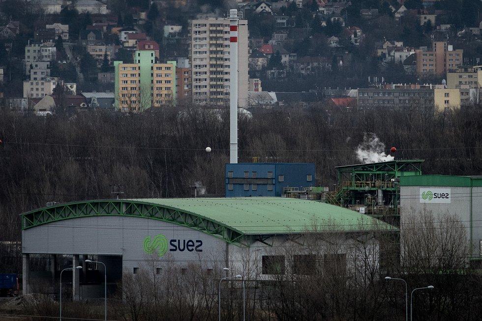 SUEZ Využití zdrojů, a.s. - spalovna odpadů v Ostravě. Ilustrační foto.