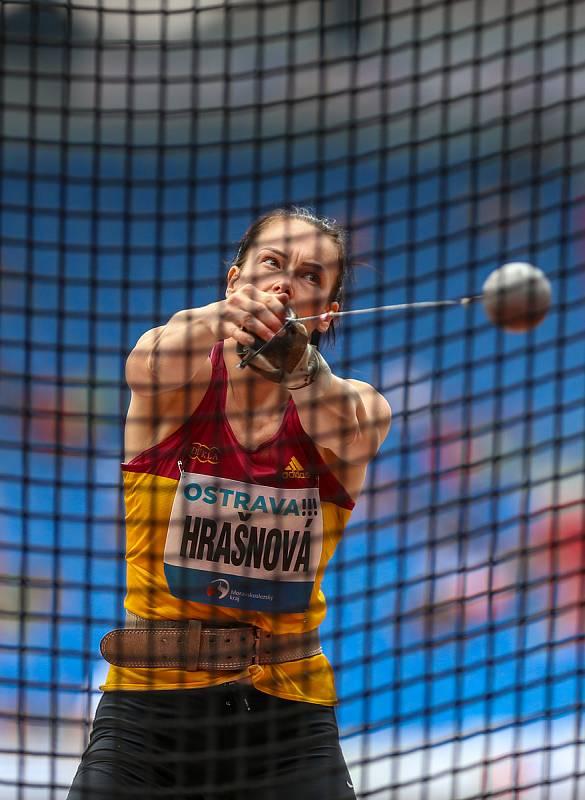 Atletický mítink IAAF World Challenge Zlatá tretra v Ostravě 20. června 2019. Na snímku Martina Hrašnová z (SVK).