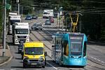 Testovací jízda tramvaje Stadler nOVA 30. května 2018 v Ostravě.