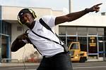 Přílet Usaina Bolta na letiště v Mošnově.