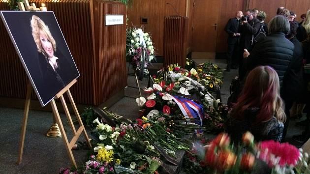 Pohřeb Věry Špinarové v Ostravě, sobota 1. dubna 2017.