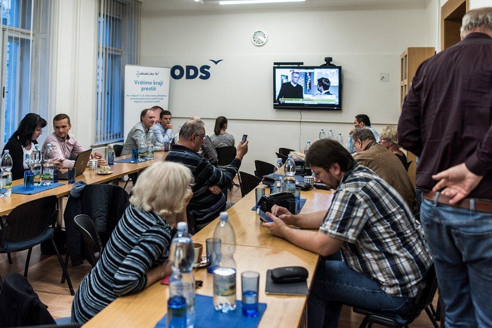 Volební štáb ODS.