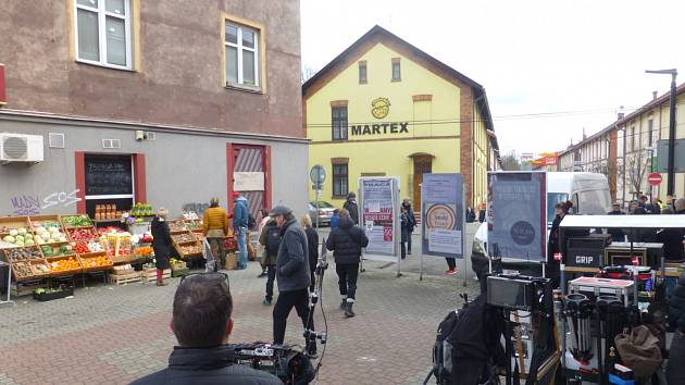 Snímek z příprav natáčení seriálu DNA v Ostravě-Mariánských Horách.